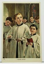 Choir Boys 1908 Kratzerville Pa Julius Bien Postcard I20