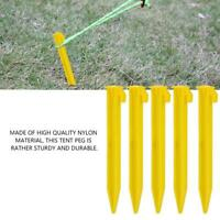5x Ultra light Plastic Outdoor Camp Trip Tent Peg Ground Nails Screw Nail Stakes