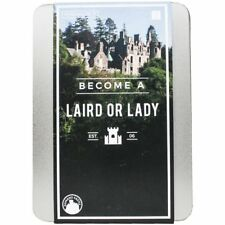 BECOME A Scottish LAIRD or LADY Gift BOX Tin Perfect Personalised Gift Republic