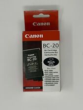 Canon BC-20 Black Ink Cartridge BJ OEM Sealed Genuine