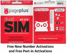 * PAGE PLUS 4G LTE DUAL SIM CARD - GET UNLIMITED VERIZON WIRELESS BY PAGE PLUS *