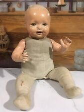 16� Antique Madame Hendren Composition Baby Mama Doll Tin Eyes Celluloid Tongue