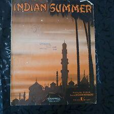 song sheet INDIAN SUMMER Victor Herbert 1939