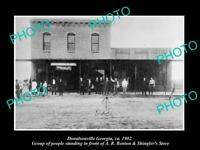 OLD POSTCARD SIZE PHOTO OF DONALSONVILLE GEORGIA VIEW OF SHINGLERS STORE 1902