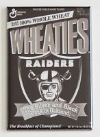 Raiders Wheaties FRIDGE MAGNET (2 x 3 inches) cereal box oakland football