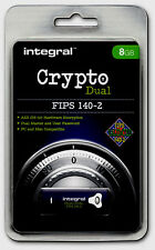 Crypto DUAL - FIPS 140-2 Encypted 8GB USB Flash Drive from Integral for PC & Mac