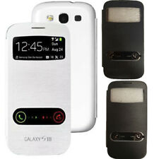 SAMSUNG GALAXY S3 i9300 FLIP FRONT VIEW LEATHER CASE BATTERY HOUSING BACK COVER