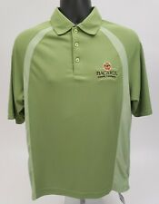 NEW BACARDI RUM Men's Polo Shirt Size Medium Zorrel Dri-Ballance Green