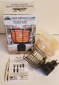 Himalayan Glow Salt Rock Night Light Bedroom Bathroom Hallway Wall Plug In NEW