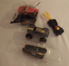McDonalds Monster Jams Toy Trucks Batman Car & 2 Tech Deck Skateboards