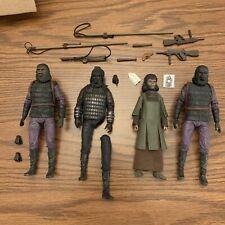 NECA 7? Planet Of The Apes Figure Lot, Zira, General Ursus, And Gorilla Soldiers