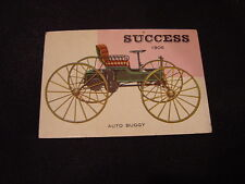 VINTAGE 1953 Topps World on Wheels #60 1906 Success Auto Buggy Card, NICE!