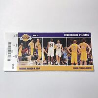 Los Angeles Lakers Vs New Orleans Pelicans NBA Basketball Game Ticket Stub 2014