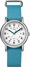 "Timex T2N836, Women's ""Weekender"" Blue Fabric Watch, Indiglo, 31MM"