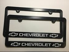 Chevrolet Bowtie Logo Plastic License Plate Frames Decal Vinyl Two
