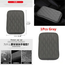 Universal Grey PU Leather Car Auto Armrest Pad Cover Center Console Box Cushion