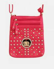 Betty Boop Messenger Bag, Black, Pink