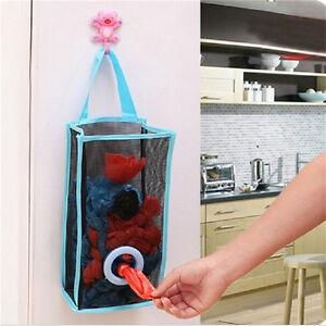 Hanging Kitchen Garbage Bag Storage Packing Shopping Bag Retro Fashion M&OA_cd