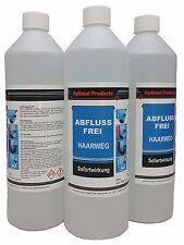 Abflussfrei Haarweg 3 X 1 Liter Flasche Sofortwirkung Konzentrat