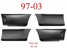 97 03 4Pc Bed Patch Set, Panel, Front & Rear Lower, Ford F150 Truck, Short Bed