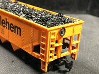 HO Bethlem Steel Coal Hopper  With Real Coal Load 100% Tested Lot DD 21