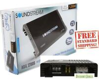 SOUNDSTREAM AR4.1200D 4-CHANNEL 1200W COMPONENT SPEAKERS TWEETERS AMPLIFIER NEW