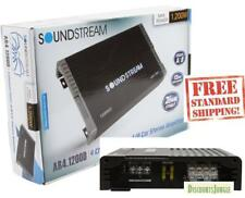 SOUNDSTREAM AR4.1200 4-CHANNEL 1200W COMPONENT SPEAKERS TWEETERS AMPLIFIER NEW