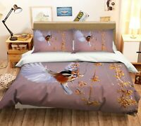 3D Wings Bird A221 Animal Bed Pillowcases Quilt Duvet Cover Set Queen King Zoe
