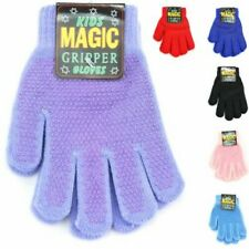 Children's Magic Gloves Gripper Stretch Kids Small Colours New Winter Warm