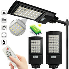 990000LM 500W 560LED Solar LED Street Light w/Remote & Mounting Pole IP67 Lamp