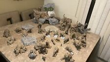 the herd 38 Piece elephant collection With Display