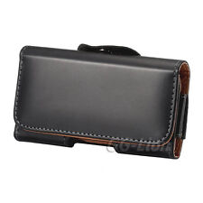 "FOR IPHONE 6 Plus 5.5"" BLACK HORIZONTAL BELT CLIP LEATHER CASE CARRYING HOLSTER"