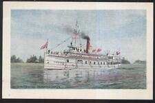 Postcard MUSKOKA LAKE CANADA  Steamer Excursion Boat Medora Artist Concept 1904