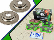 FOR HONDA S2000 2.0 AP1 REAR SOLID BRAKE DISCS GREEN STUFF EBC BRAKE PADS 282mm
