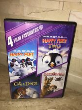 Critters with Character Collection: 4 Film Favorites DVD HAPPY FEET CATS & DOGS