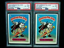 GARBAGE PAIL KIDS 1985 1st Series #1a Nasty Nick #1b Evil Eddie GLOSSY OS1 PSA 6