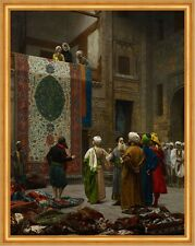 The Carpet Merchant Jean-Leon Gérôme alfombras Orient turbante comerciantes B a2 02535