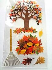 JOLEES HARVEST  AUTUMN, FALL Thanksgiving 3D Scrapbook Stickers 7 pc