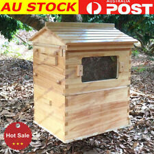 TOP Beehive House 2-Layer Super Brood Beekeeping Bee Hive Box For 7PCS Frames