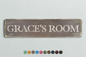 GRACE'S ROOM Vintage Style Wooden Sign. Shabby Chic Retro Home Gift