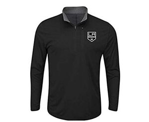 NHL Los Angeles LA Kings hockey 1/4 zip jacket YOUTH size XL black new with tags