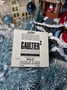 JEAN PAUL GAULTIER PARIS PARFUMS MINIATURE GAULTIER 2 + PLAQUE BIJOU PENDENTIF