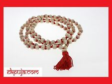 TULSI ORIGINAL PREMIUM JAPA MALA ROSARY 108+1 BEAD HINDU YOGA MEDITATION PRAYER