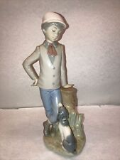 Vintage 1983 Nao by Lladro 'Mutual Contemplation' Boy With Dog Figurine