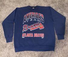 Atlanta Braves Sweat Shirt Vtg 1992 MLB Baseball Sweater Salem Large L