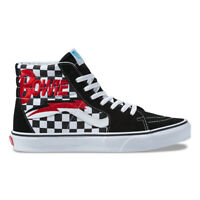 New Vans X David Bowie Sk8-Hi Checkerboard/Black/White Sneakers Limited Edition