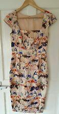 Vestido De Boda BNWOT £ 125 House of Fraser/incalculables tamaño 6 8 Floral Navidad Fiesta