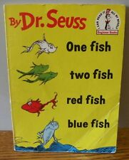 """1987 Vintage """"One Fish Two Fish Red Fish Blue """" by DR. SEUSS Paperback book"""