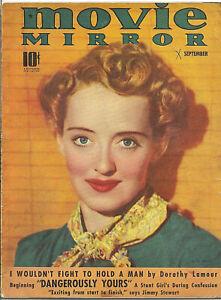 MOVIE MIRROR • SEPT 1939 • BETTE DAVIS cover