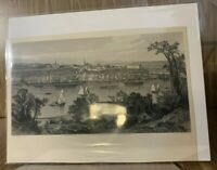 Quebec • 1874 steel engraving lithograph • R. Hinshelwood and J.D. Woodward